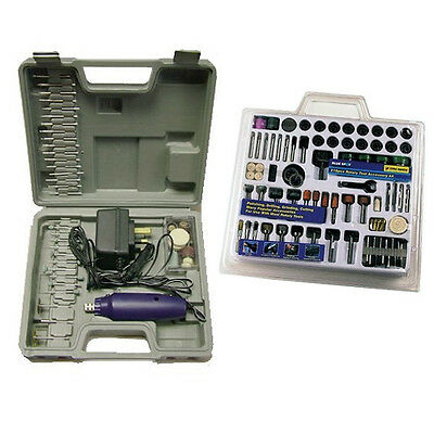 276 PIECE DREMEL STYLE HOBBY ROTARY MINI TOOL DRILL + MULTI BITS + CARRY CASE