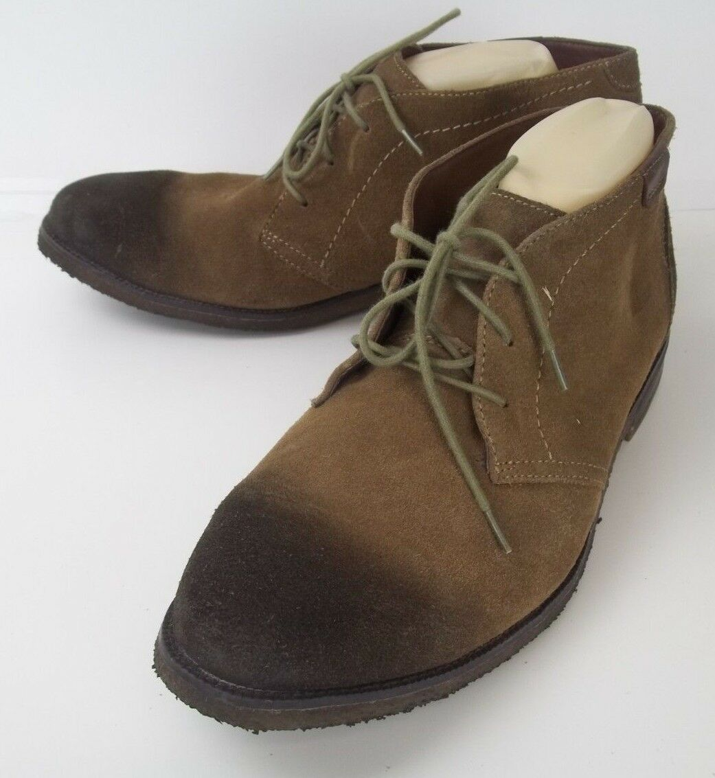 J&M 1850 Mens bottes Ankle US 11.5 M marron Suede Distressed Lace Chukka 2620