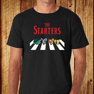 Détails sur POKEMON le Starter Drôle * The Beatles Abbey Road Homme T Shirt Noir Taille S 3XL afficher le titre d'origine
