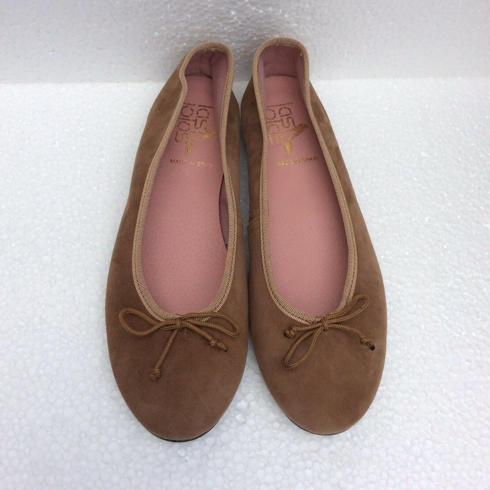 Brand New Las Lola Sissy Classique En Daim Marron Ballerines Plates Chaussures Taille 39