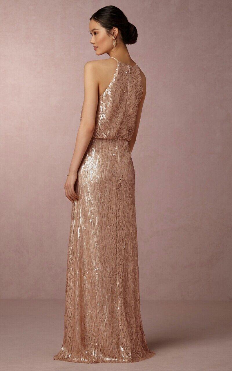 Anthropologie BHLDN Alana Alana Alana Sequin Maxi Dress by women Morgan Wedding Sz 8  290 b267ce