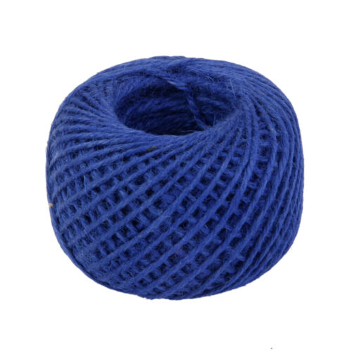 50M Jute Hessian Burlap Thread String Yarn Jute Butcher Twine Dark Blue