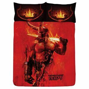 Hellboy-Set-Housse-de-Couette-Double-Reversible-Literie-Lame-Flames
