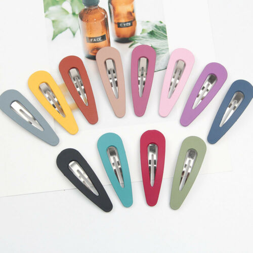 2x Colourful Women Girls Hair Clips Snap Pins Grip Metal Fashion Accessories UK