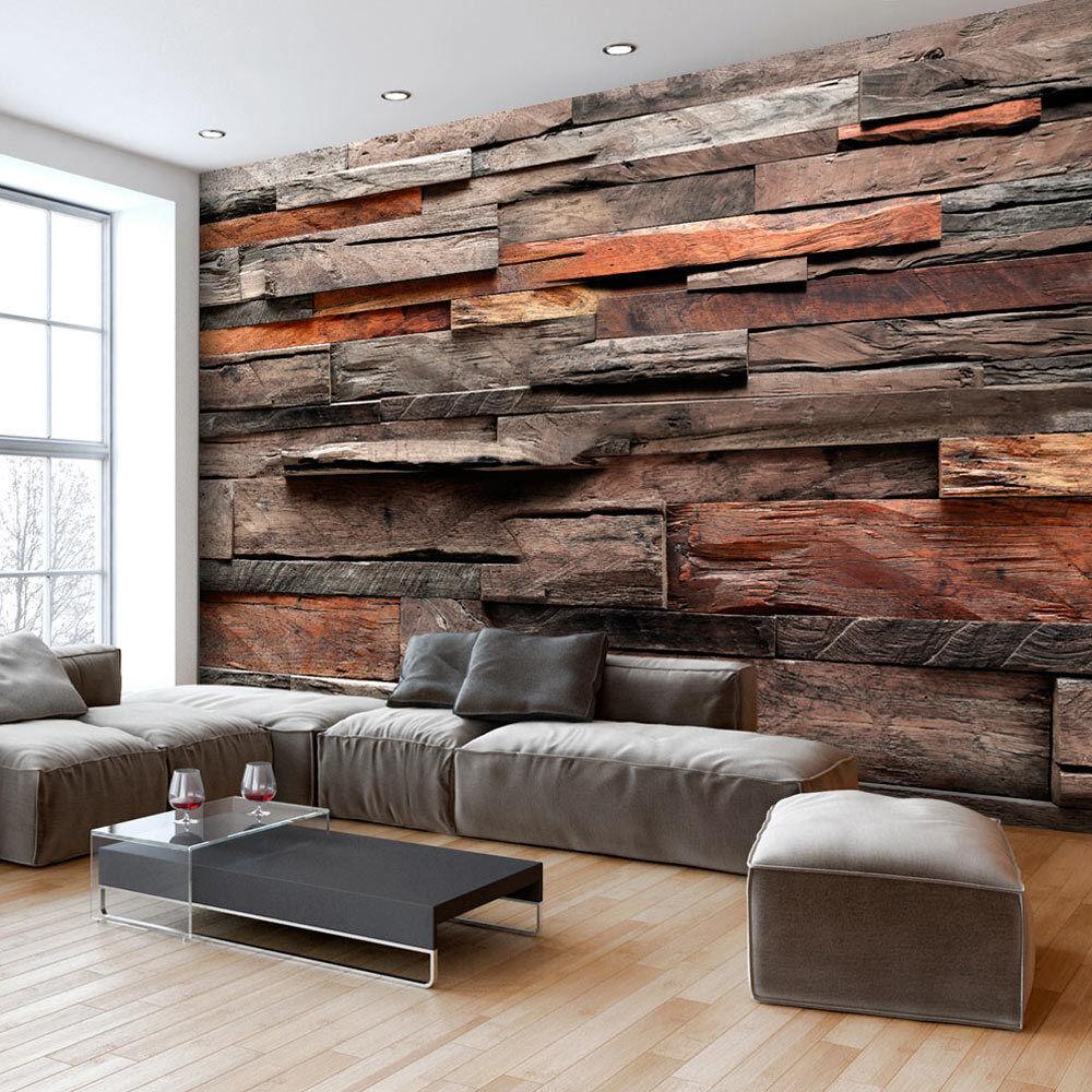 Fototapete Holz Optik Holzwand Vlies Tapete Wandbilder 3 Farben f-A-0597-a-b