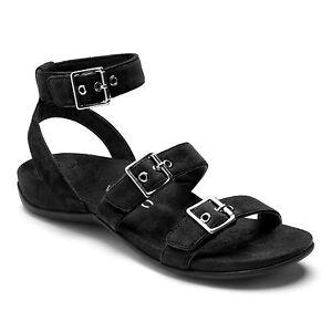 c907c80b83051 Vionic Sahara Black Backstrap Gladiator Buckle Sandal Women's sizes ...