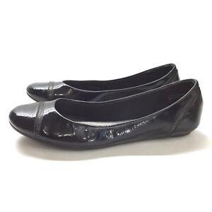 b0e2359d93 Coach and Four Ballet Flat Shiny Black Round Toe Sz 8 1/2 Slip On ...