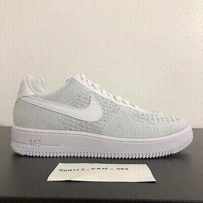 ec47662c Details about Nike Air Force 1 Flyknit 2.0 Size 8 Men's Shoes [AV3042-100]  White/Pure Platinum