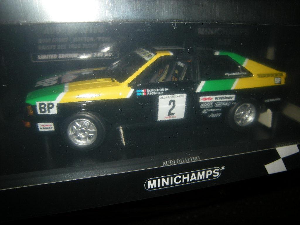 1 18 Minichamps Audi Quattro Rallye del 1000 Limited Edition 1 of 350 PCs en OVP