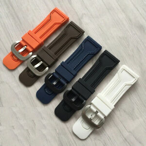 28mm-Silicone-Watch-Strap-Band-Fits-SevenFriday-Panerai-Breitling-Waterproof