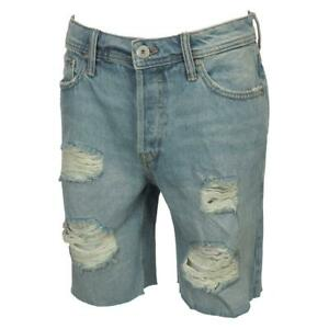 Bermuda-Shorts-Jack-and-jones-Rick-Lt-Blue-Denim-Shorts-Blue-45850-New