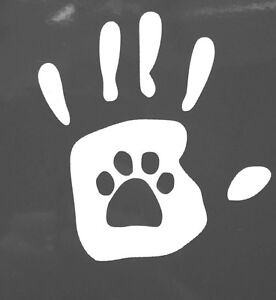 PAW PRINT Dog Cat Lover HANDPRINT Car Truck STICKER DECAL PICK Your COLOR