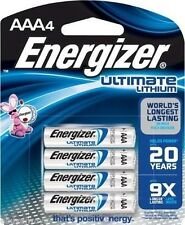 4 AAA Energizer Ultimate Lithium Batteries L92BP-4 Exp  03/ 2025 New - Sealed