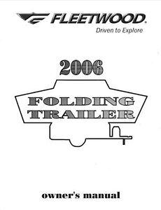 fleetwood popup trailer owners manual 2006 evolution e2 e1 ebay rh ebay com edge evolution owners manual insinkerator evolution owners manual