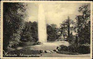 Karlsruhe Baden-Württemberg 1914 Mittlerer Oberrhein Schlossgartensee Park See