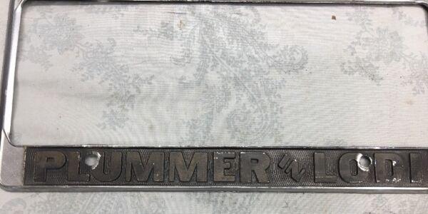 VINTAGE Lodi California DEALER Plummer License Plate Frame Pontiac ...
