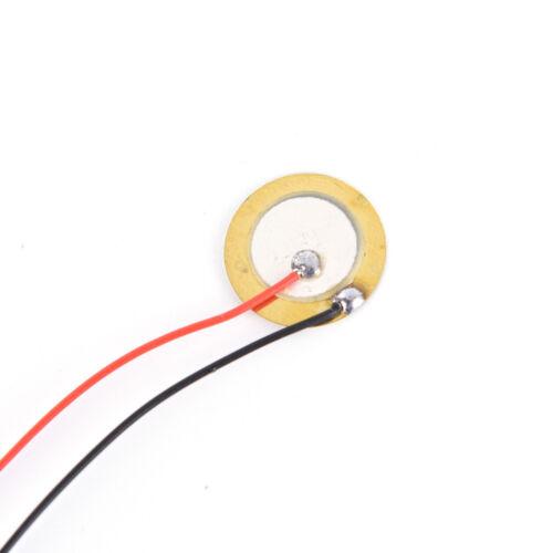 12pcs 15mm Piezoelectric Piezos Amplifiers Discs Leads For Guitar Pickup CN