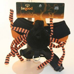 NWT-Be-Good-Pet-Wear-Black-Spider-Halloween-Costume-Dog-Harness-Size-Large-Med