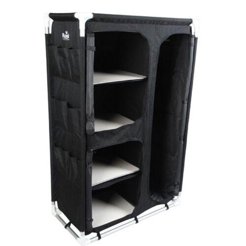 Large Portable Camping Cupboard Storage WardrobeShelves /& Hanging