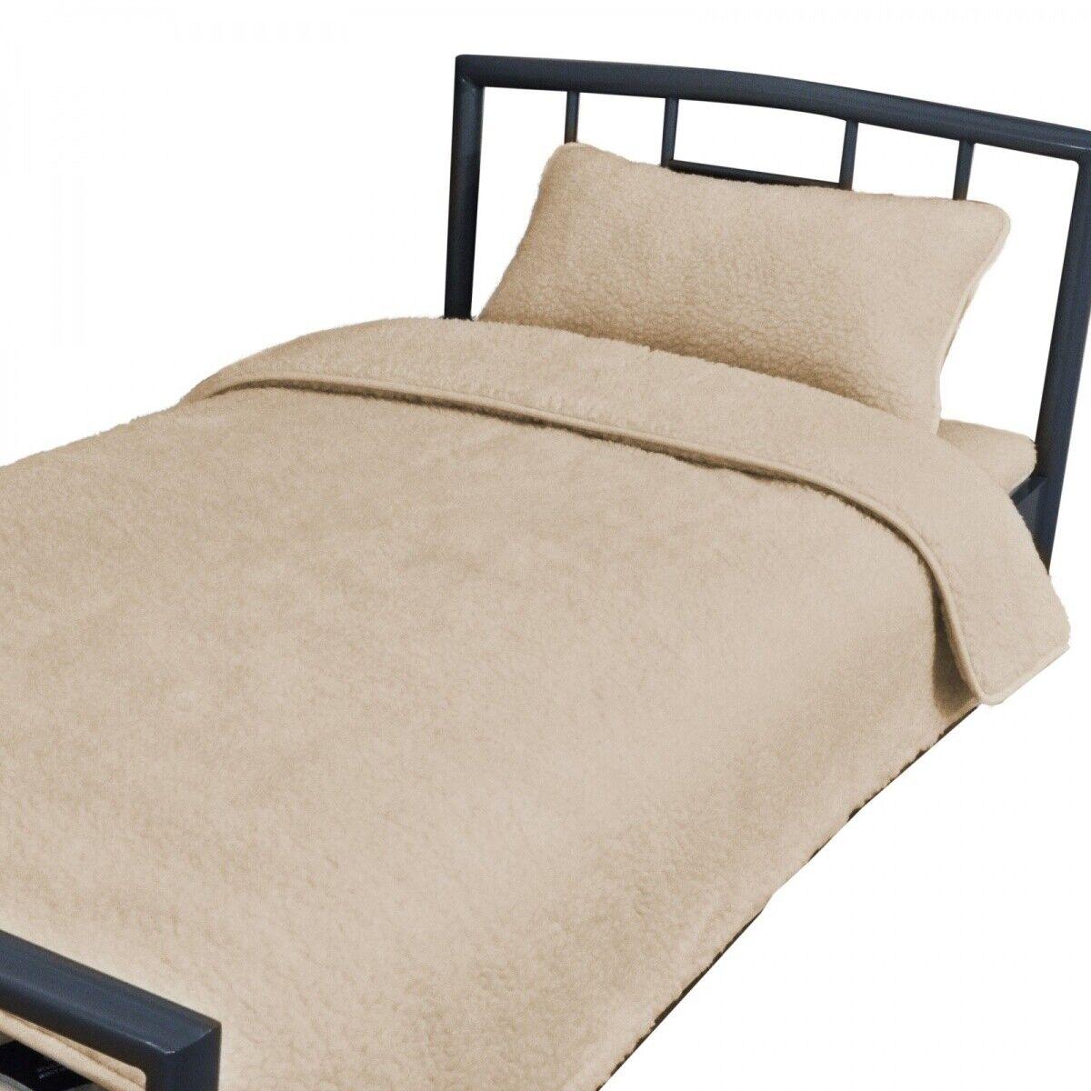 Bettdecke Australische Merinowolle 140x200 ökologisch 2-Schichten Wolle