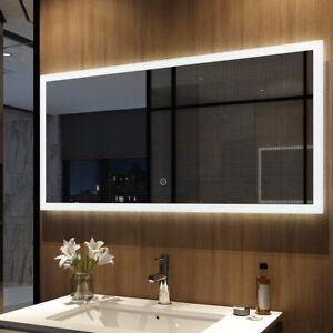 Details zu LED BAD SPIEGEL Badezimmerspiegel mit Beleuchtung Badspiegel  Wandspiegel Touch