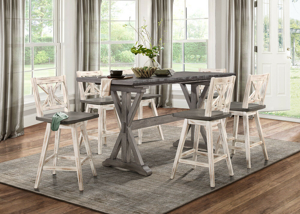 Solid Wood Counter Height Dining Table - Mediconist