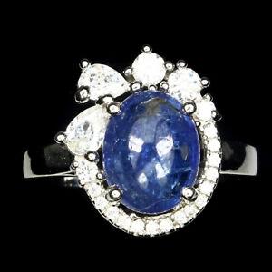 Top Big Oval 18x15mm Rich Blue Violet Tanzanite CZ Lady/'s Present 925 Silver Pendant 28x20mm AAA