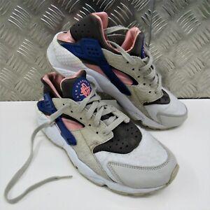 Nike-Air-Huarache-UK-8-5-Grigio-Cemento-Rosa-Blu-318429-046-Scarpe-Da-Ginnastica-Sport-da-Palestra