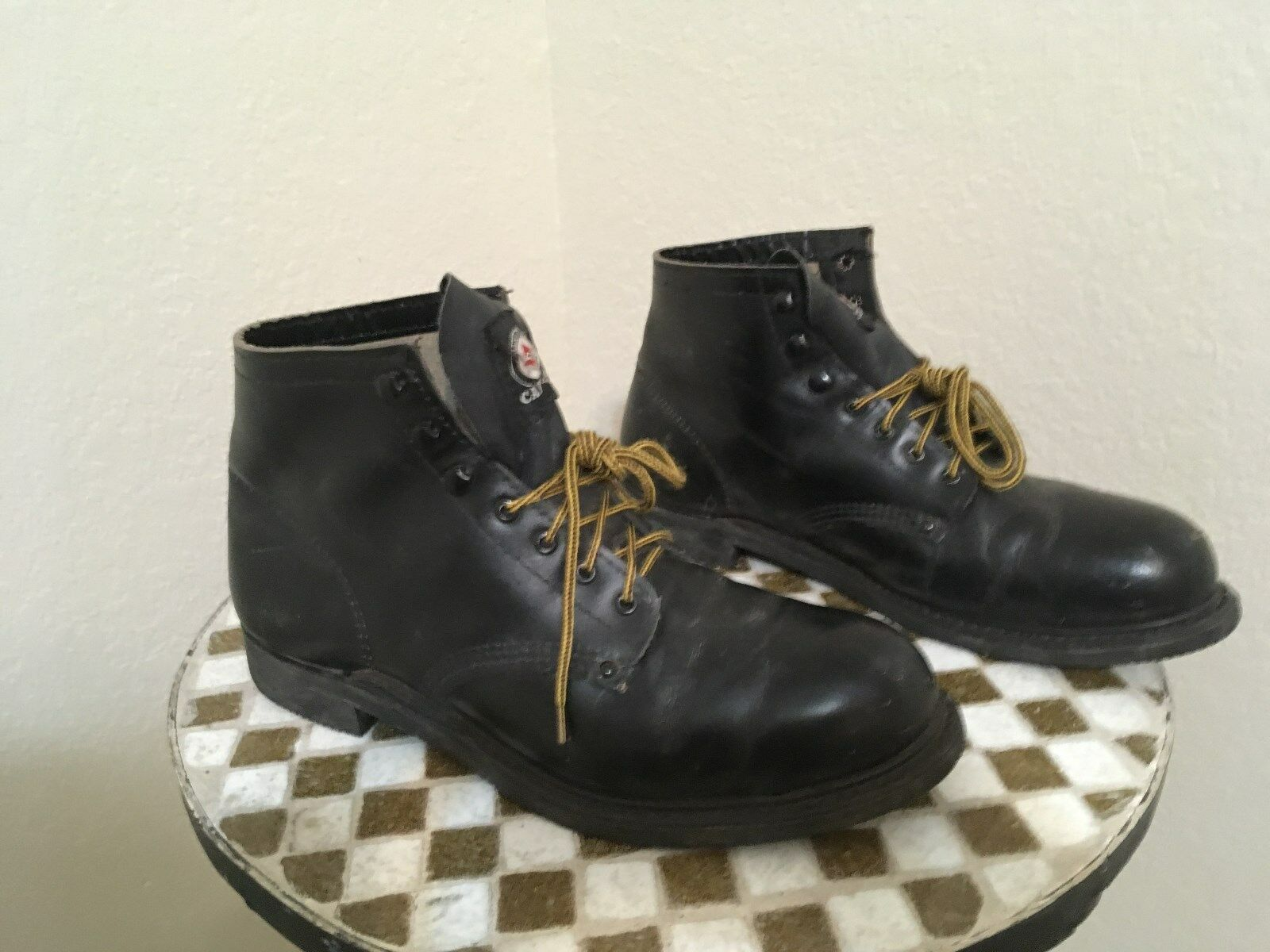 USA RED BIRD STEEL TOE DISTRESSED MOTORCYCLE ANKLE BOSS BOOTS BOOTS BOOTS 10.5 D e7524d