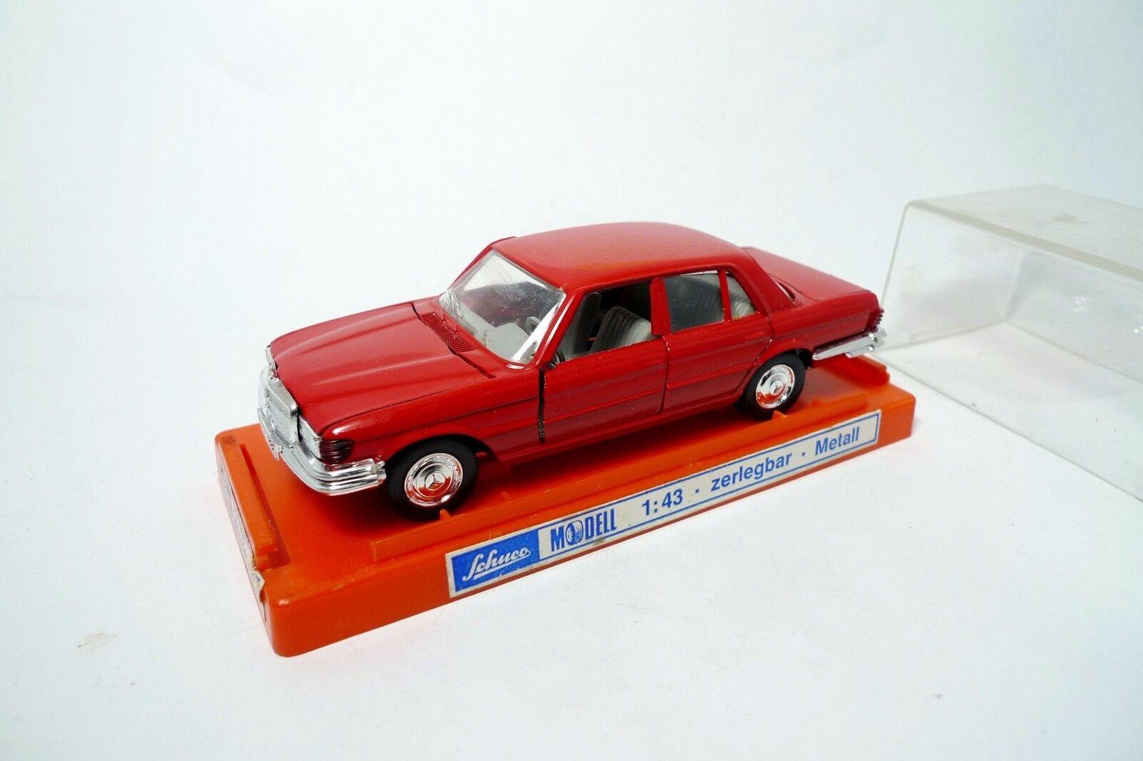 Ancienne Mercedes 450 SL  Rouge   rouge - 301618 - Schuco 1 43 - Vintage