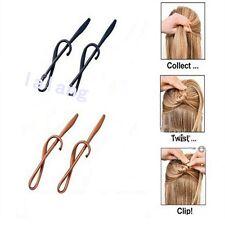 Fashion Magic TWIST N CLIP For Your Hair 4 Hairpin Clips + 1 Tassel Tail LA
