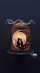 Electric-Plug-In-No-Cord-Night-Light-Tart-Wax-Burner-Oil-Warmer-Cat-Cats-Lover