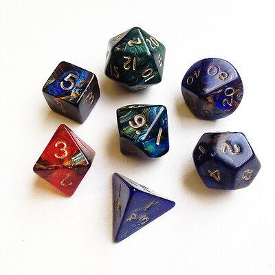 MAGMA mixed poly dice set - d4, d6, d8, d10, d%, d12, d20 - standard size