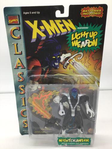 NIGHTCRAWLER CLASSICS X-MEN w//Light up Weapon 1996 Toy Biz