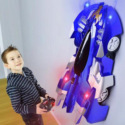 Powerful Wall Climbing Remote Control Car Radio Controlled Stunt Racing Kid Toy^