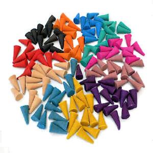 100-farbige-Luxus-Raeucherkegel-toller-Duft-Sortenauswahl-Aromaschutzbeutel