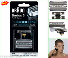 Braun Foil Cutter Series 5 Shaver Parts Replacement Head Blade Cassette Silver