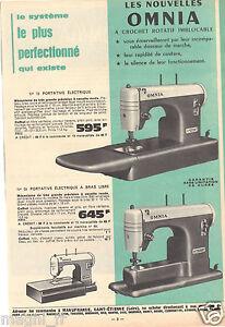 Publicite-1965-Machine-a-coudre-portative-OMNIA-Manufrance