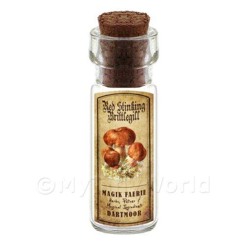 Dolls House FARMACIA Puzzolente Scacciamosche funghi bottiglia e il colore dell/'etichetta