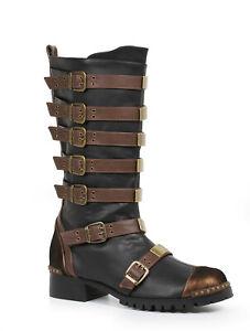 Ellie 158-PUNK Brown Minecraft Steampunk Renaissance Medieval Costume Knee Boot