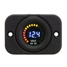 Waterproof 12v Led Car Van Boat Marine Voltmeter Voltage Meter Battery Gauge Usa