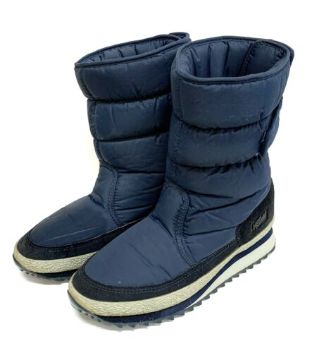 Vintage Land Rover Navy Puffy Snow Boots Men's siz