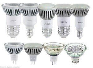 EGLO-LED-Leuchtmittel-1-2W-3W-Reflektor-GU5-3-E27-E14-Sparlampe-SMD-Strahler