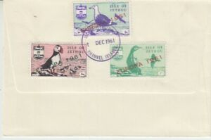 Europe-Cept-1961-Isle-Of-Jethou-3-Values-FDC