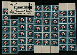 South-Africa-1954-Christmas-Seals-in-large-sheet-blocks-sold-to-raise-fun-Stamps
