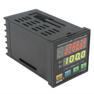 AC 90-260V Dual Digital Fuzzy PID F/C Temperature Controller with 7 Alarm Modes