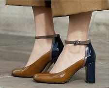 Clarks Ladies Gabriel Candy Cognac Pat Leather Smart  Shoes Size UK 6/39.5