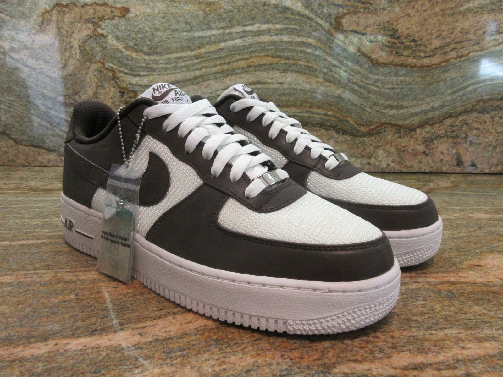 2013 Nike Air Force 1 Low Premium iD SZ 9 3M Reflective Brown White 444758-900