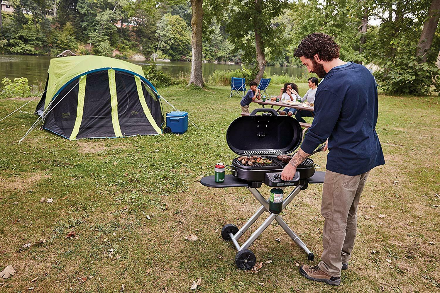 Coleman RoadTrip 285 Portable Stand-Up Propane Grill Camping Wandern 3DAYSHIP