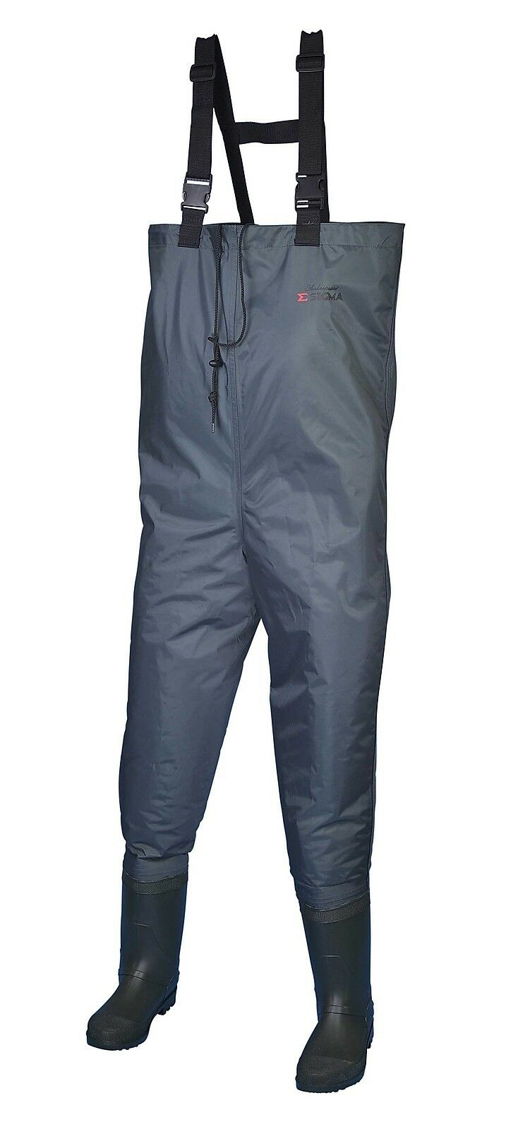 Shakespeare Sigma Nylon Chest Fishing Waders Cleated Sole - Green - Sizes 7 to12